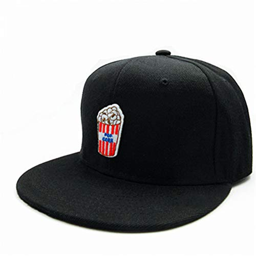 MAOZIJIE Popcorn-Stickerei Baumwolle Baseball Cap Hip-Hop-Mütze Verstellbare Snapback Hats Für Männer Und Frauen -