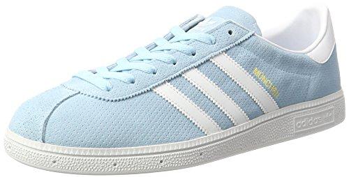 adidas Originals München, Sneakers Basses Homme, Bleu Marine/Gris Clair Bleu (Icey Blue)
