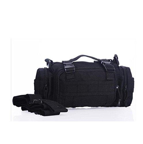All'Aperto Multifunzione Spalla Camuffamento Colore Solido Cartella Zaino Tasche A Mano , Mud Color , black