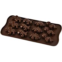 1 molde de silicona para tartas de chocolate dinosaurio (color al azar)