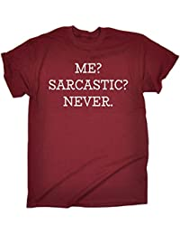 4435e665 123t Men's Me Sarcastic Never T-Shirt Funny Christmas Casual Birthday Tee