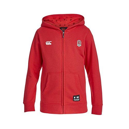 Canterbury Jungen England Zip durch Hoody 36 rot