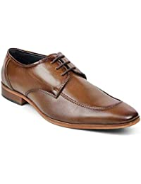 tresmode Men's Brown Leather lace Shoes