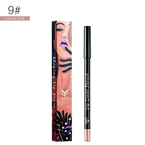 Huamianli Illustrator Series Non-Stick Cup Nicht verblassender Lip Liner 12 1 Box - Cxb011 Eye Shadow Wasserdicht Eyeliner (9) -