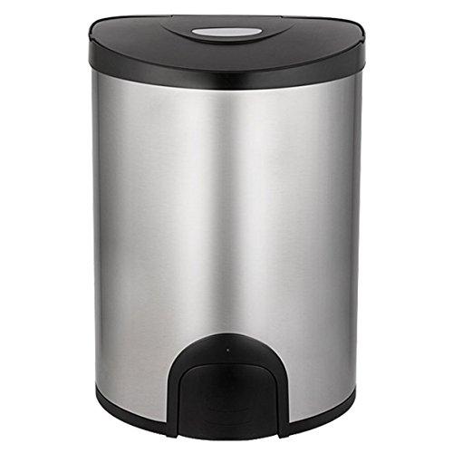 LF DD Smart Mülleimer Touch Haushalt elektrische Flip Edelstahl kreative Lagerung Eimer (Silber 15L Verpackung von - Kompost-elektrisch