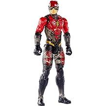 MATTEL fpb53DC Justice League Movie Base Figura The Flash Uniforme de camuflaje, 30cm