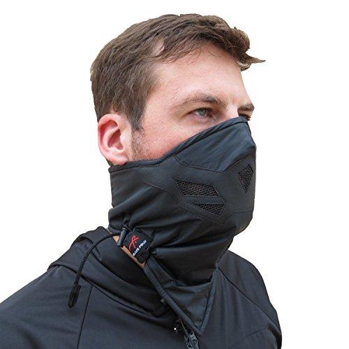 Grace Folly Half Face Gesichtsmaske für kaltes Winterwetter. Diese Halbmaske ist für Snowboard, Ski, Motorrad geeignet. (in vielen Farben lieferbar) (Schwarz)
