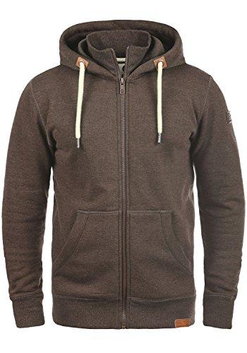SOLID TripZip Men's Hooded Jacket Zip, size:S;colour:Coffee Bean Melange (8973)