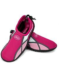 AQUA-speed ® aQUA-chaussures/17 a model b (35–45 unisexe anti-dérapants-structure de piscine piscine cordons de serrage up ® -schlüsselband)