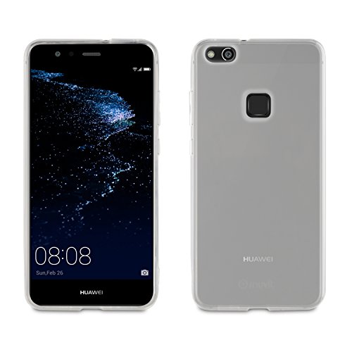 Muvit MUPAK0361 - Funda + Protector de Pantalla Flexible para Huawei P10 Lite, Transparente