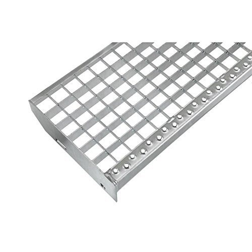 Einpress Treppenstufe EP Stufe Tritt Gitterroststufe 30x30 mm (1000 x 270 mm) -