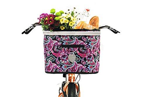 Topmove® Lenkerkorbtasche Fahrradtasche Mehrfarbig - Blume
