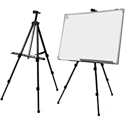 Cikuso Tableau Blanc Artiste Telescopique Champ Studio Chevalet de Peinture Trepied Presentoir