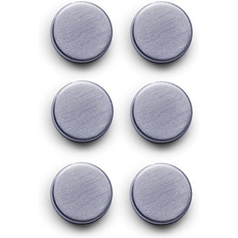 Zeller 11203 - Imanes de acero inoxidable (6 unidades, ø 2.7 cm)