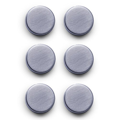 Set 6-teilig, Ø 2.7 cm, edelstahl (Magnet-set)
