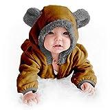 Funzies Fleece leichte Jacke - Winter Pyjama Oberbekleidung für Baby 3-6 monate Braunbär