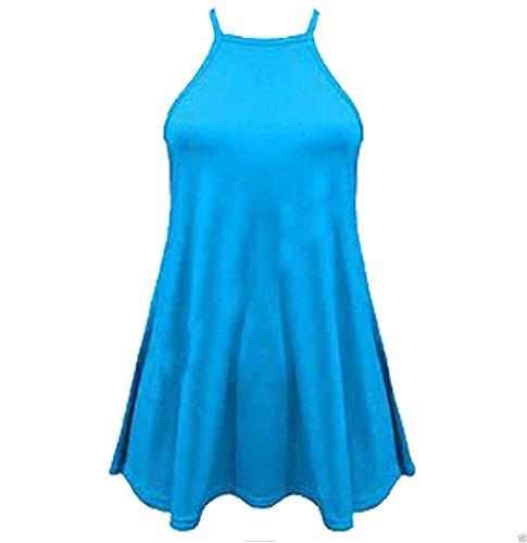 Top da donna a collo alto, taglie forti (40-58) Turquoise