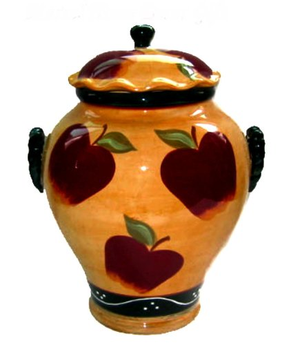 Country Apple Cookie Jar Canister by ACK - Apple Cookie Jar
