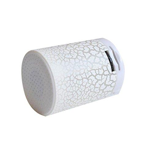 Amlaiworld Bunt LED Tragbare Mini MP3-Player Urlaub Sport USB Musik Player Kabellos Freizeit Lautsprecher Niedlich Zylindrisch Hände Elektronisch Geräte (Weiß)