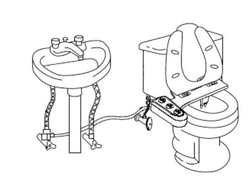 vente kit douchette confort bisbro deluxe fixer sur les wc douchette avec eau chaude pour. Black Bedroom Furniture Sets. Home Design Ideas