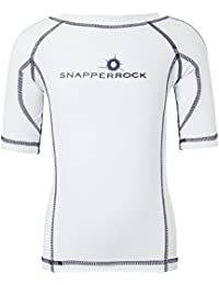Snapper Rock Boy & Girl UPF 50+ UV Protection Short Sleeve Swim Shirt Rash Top For Kids & Teens