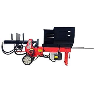 CROSSFER HLS8T-400V – Cortador de leña (fuerza de corte de 8 toneladas, 52 cm de longitud, motor eléctrico de 400 V, 2 manos, cortador de leña hidráulico)