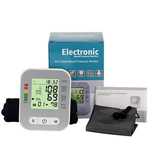 Yann Oberarm-Blutdruckmessgerät, vollautomatisch, mit digitalem Präzisions-LCD-Bildschirm, breite Manschette für Zuhause und professionelle Anwendung, Herzschlag-Test, Neue Messung
