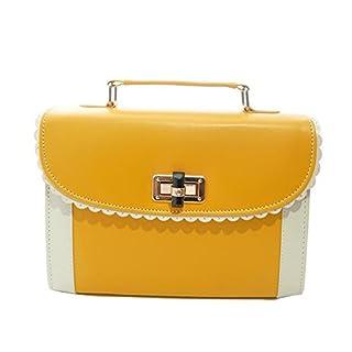 ANDAY Women's Retro VTG Should Bag Messenger Cross Body Bag Handbag Yellow