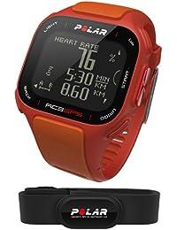 Polar RC3 GPS HR - Reloj con pulsómetro y GPS integrado, compatible con sensor de zancada, de cadencia y de velocidad para running y ciclismo (naranja/ rojo)