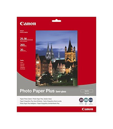 Canon SG-201 Fotopapier Plus Seidenglanz, matt (260 g/qm), 355,6 x 431,8 mm, 10 Blatt (Canon G 17)
