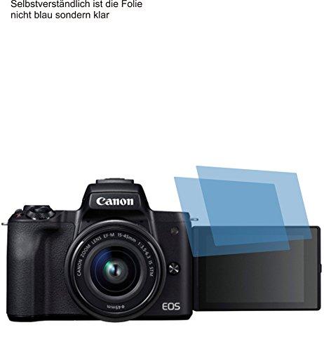 2x ANTIREFLEX matt Schutzfolie für Canon EOS M50 Displayschutzfolie Bildschirmschutzfolie Schutzhülle Displayschutz Displayfolie Folie