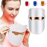 Máscara facial con terapia de fotones LED con 3 colores Máscara anti-acné y antienvejecimiento Rejuvenecimiento de la piel del dispositivo LED para el cuidado de la piel