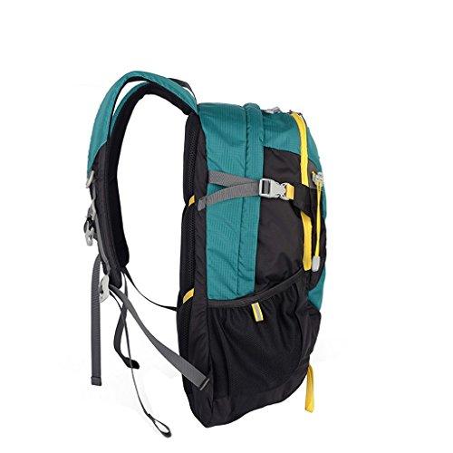 XSY 35L Zaino Trekking Sportivo Outdoor Donna e Uomo per campeggio alpinismo arrampicata Viaggio Alta Capacità Multifunzione Turchese Turchese