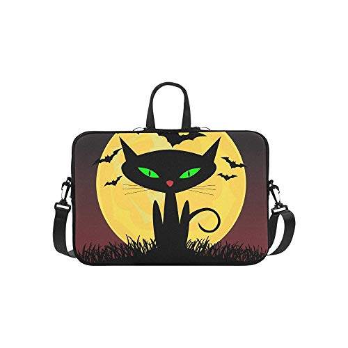 Cat Green Eyes Aktentasche Laptoptasche Messenger Schultertasche Crossbody Handtasche für Geschäftsreisen ()