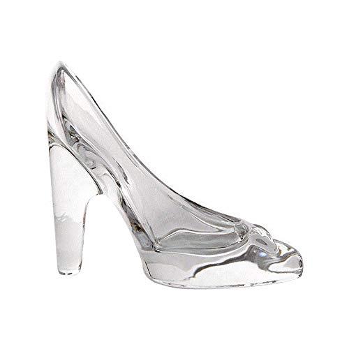 Cratone Kristallschleife Schuhe Ornament Cinderella Glas-Hausschuhe Geburtstag Geschenk Heels Zeremonie Hochzeit Party Decor 17 * 14 * 11.5cm durchsichtig