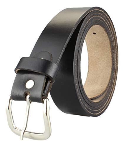 Alex Flittner Designs Herren Echt Ledergürtel schwarz in 4cm Breite in Überlänge - Bundweite: 145cm = 160cm Gesamtlänge