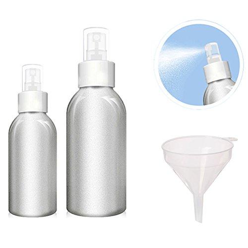 Beauty360 Spray Flasche für Parfüm Toner Aluminium Hochwertige Lagerung Reisesets Bulk Kosmetik Gläser Aluminium Körper und PP Pumpe (40ml + ()
