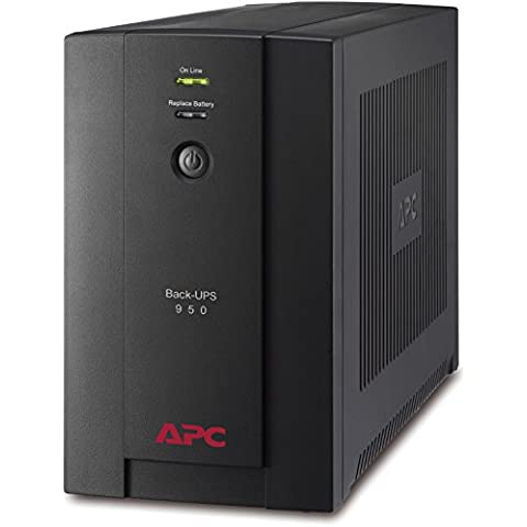 APC Back-UPS BX 950VA - BX950U-GR - Sistema de alimentación ininterrumpida SAI - 4 tomas