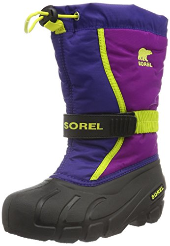 Sorel Youth Flurry, Stivali da Neve Unisex - Bambini, Blu (Grape Juice, Bright Plum 484Grape Juice, Bright Plum 484), 34 EU