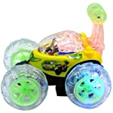 The Flyers Bay Remote Controlled 360 Degree Twister Stunt Car For Kids With Music, Yellow