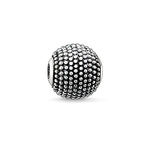 Thomas Sabo Damen Herren-Bead Kathmandu Karma Beads 925 Sterling Silber geschwärzt K0008-001-12