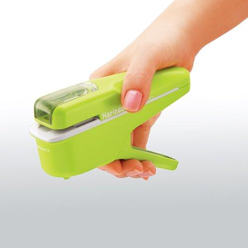 Papiertacker ohne Klammern / Umweltfreundlich Heftgerät/Hefter 8Blatt, Grün - 3