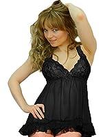 Yummy Bee Babydoll Lingerie Lace Nightwear Dress G String Set Plus Size 8 - 28
