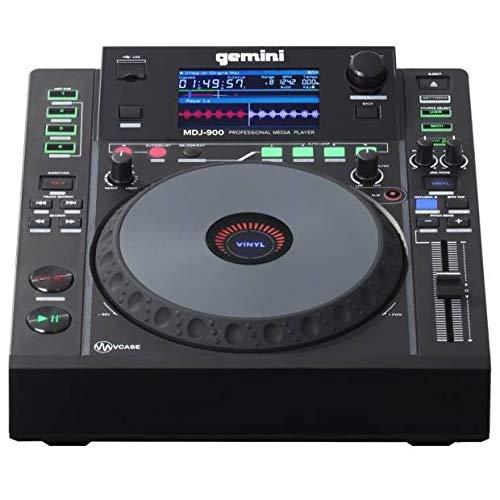 Gemini MDJ-900 - USB DJ Media Player - 4.3 Zoll Farbdisplay - 8 Zoll Jogwheel