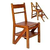 Sgabelli con gradino Scale di legno Passo, sgabello, disegno ergonomico, lucidato a mano Albero del caucciù in legno massello, Resiste 550 lb Scale a pioli
