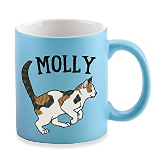 Spoilt Rotten Pets Sky Blue Gift Mug Exclusive Calico or Tortoiseshell Cat Lover Personalised Mug. Quality Satin Finish Printed with Your Cats Name & Fun Slogan All You Need is Love & A Cat Called.
