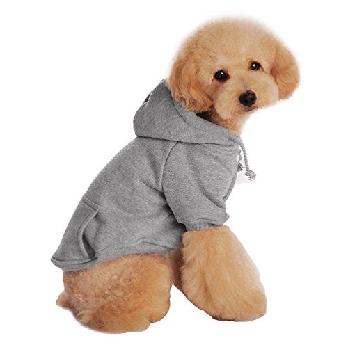 Yuncai Freizeit Haustier Hund Hoodie Kleidung Weich Gemütlich Pullover für Hunde Grau XL
