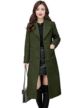 WanYang Mujer Abrigos Chaquetas para Invierno Abrigo Largos Chaqueta Acolchada Señora Coat Lana Capa Jacket