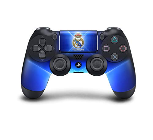 PS4 DualShock Wireless Controller Pro Konsole PlayStation4 Controller mit weichem Griff und Exklusiver individueller Version Skin (PS4-Real Madrid)
