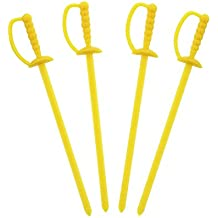 Royal palillos espada de color amarillo, 8 cm, paquete de 1.000